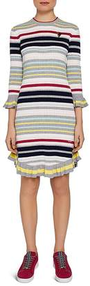 Ted Baker Colour by Numbers Irette Striped Knit Dress