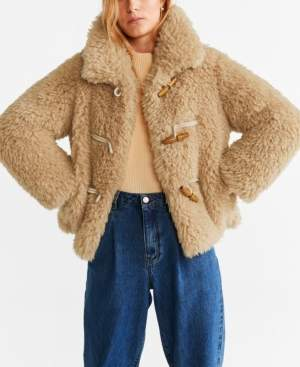 MANGO Faux Shearling Coat