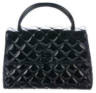 Chanel Quilted Patent Flap Bag