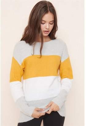 Garage Colourblock Crew Neck Sweater