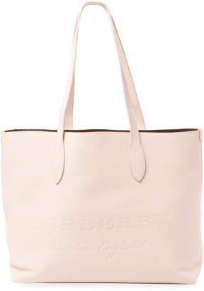 Burberry Remington Large Embossed Leather Tote