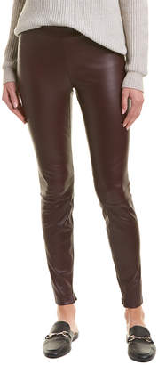 Vince Zip Ankle Leather Legging