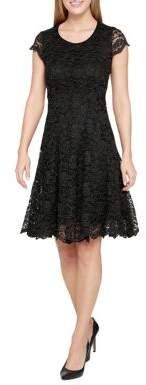 Tommy Hilfiger Floral Embroidered Dress