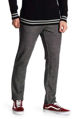 Parke & Ronen Knit Faux Leather Detailed Pants