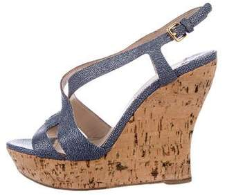 Miu Miu Stingray Platform Wedges