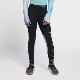 Nike Pro Big Kids' (Girls') Printed Training Tights