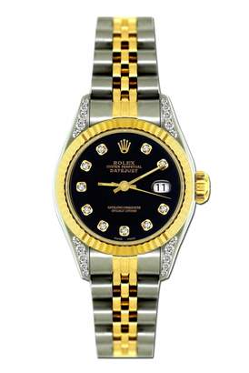 Rolex Vintage Lady DateJust 26mm Black gold and steel Watches