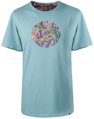 Pretty Green Paisley Print Logo T-Shirt