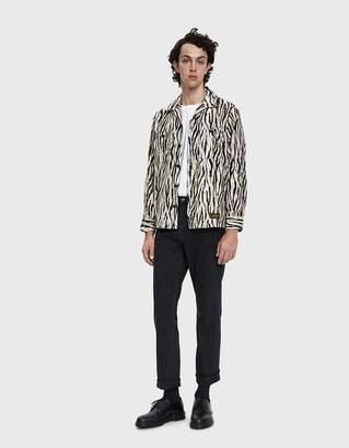 Neighborhood Fur Button Up Shirt in Zebra