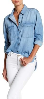 Melrose and Market Frayed Hem Denim Shirt