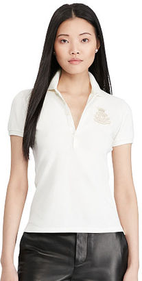 Polo Ralph Lauren Skinny Stretch Patch Mesh Polo $125 thestylecure.com