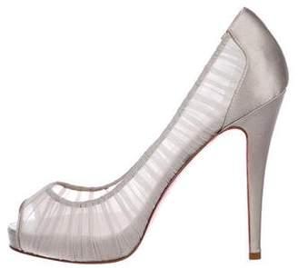 Christian Louboutin Sheer High Heel Pumps