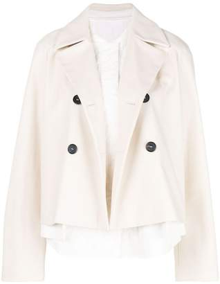 Jil Sander Navy caped military jacket