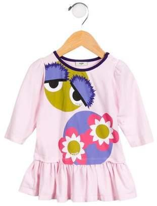 Fendi Girls' Graphic Flounce Dress