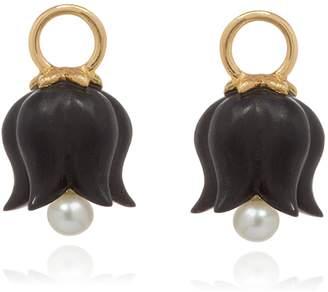 Annoushka Yellow Gold and Ebony Tulip Earring Drops