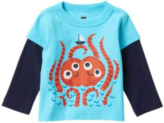 Tea Collection Sea Monster Graphic Tee (Baby Boys)