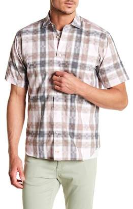 Thomas Dean Plaid Short Sleeve Shirt