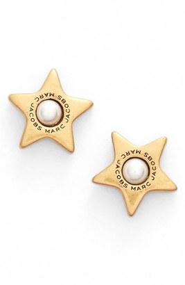 Women's Marc Jacobs Imitation Pearl Stud Earrings $45 thestylecure.com