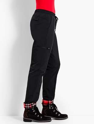 Talbots Fleece Roll Cuff Straight-Leg Pant