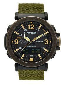 CasioCasio Men's PRO TREK Triple Sensor Analog-Digital Tough Solar Watch - PRG-600YB-3CR