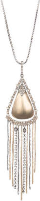 Alexis Bittar Crystal Encrusted Tassel Chain Pendant Necklace with Lucite