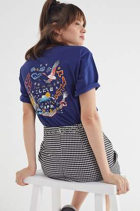Urban Outfitters Embroidered Japanese Art Tee