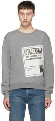 Maison Margiela Grey Stereotype Sweatshirt