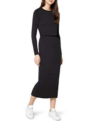 64ead9d7cf Elastic Waist Jersey Maxi Dress Black), (Size:XL)