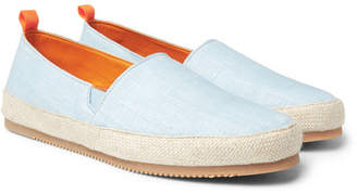 Mulo - Linen Espadrilles - Men - Light blue