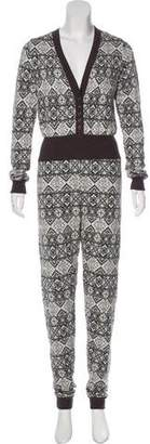 Nightcap Clothing Patterned Knit Jumpsuit