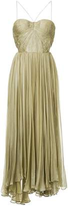 Maria Lucia Hohan pleated design strapless dress
