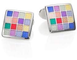 David Donahue Multicolored Checkered Cuff Links