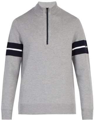 Bogner Gustaf Half Zip High Neck Sweater - Mens - Grey