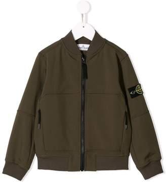 Stone Island Junior patch detailed bomber jacket