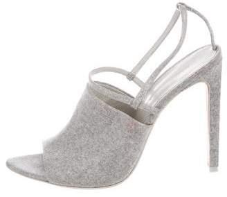 Alexander Wang Coated Wool High-Heel Sandals