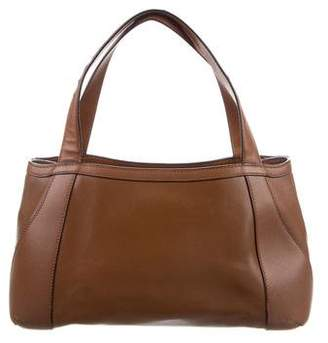 Valextra Smooth Leather Tote