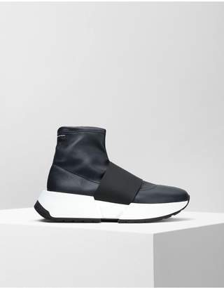 Maison Margiela Leather Sock Sneakers With A Strap