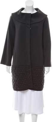D-Exterior D. Exterior Knee-Length Knit Coat