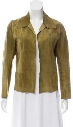 Prada Open Front Leather Jacket