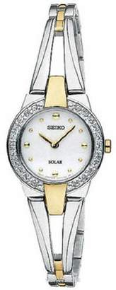 Seiko Solar Two-Tone Stainless Steel Analog Women's watch #SUP206 by
