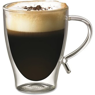 GOURMET BY STARFRIT Starfrit 12-Ounce Double-Wall Glass Coffee Cup (080056-006-FOAM)
