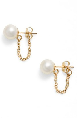 Women's Poppy Finch Pearl Ear Chains $210 thestylecure.com