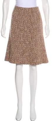 Valentino Tweed Wool-Blend Skirt