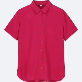 Uniqlo Women's Rayon Short-sleeve Blouse