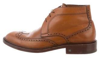 Louis Vuitton Leather Wingtip Chukka Boots