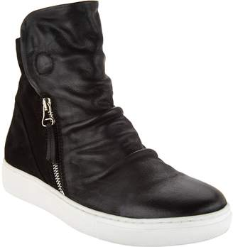 Miz Mooz High-Top Leather Zip-up Sneakers - Lavinia