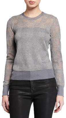 Rag & Bone Charlotte Check Crewneck Sweater