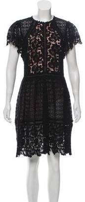 Rebecca Taylor Lace Knee-Length Dress
