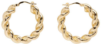 J.W.Anderson Gold Twisted Hoop Earrings