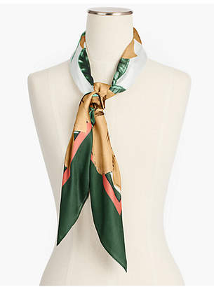 Talbots Floral and Birds Silk Scarf